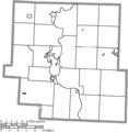 Map of Muskingum County Ohio Highlighting Fultonham Village.png