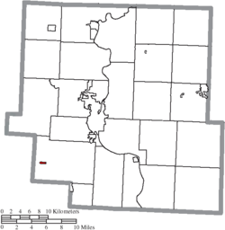 Location of Fultonham in Muskingum County