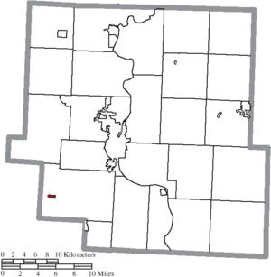 Fultonham, Ohio - Image: Map of Muskingum County Ohio Highlighting Fultonham Village