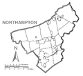 Map of Northampton County, Pennsylvania No Text.png