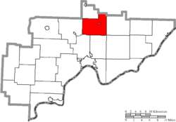 Location of Salem Township in Washington County
