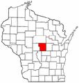 Map of Wisconsin highlighting Portage County.png