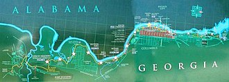 Chattahoochee RiverWalk - Image: Map riverwalk 3000