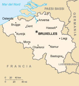 Belgio - Mappa