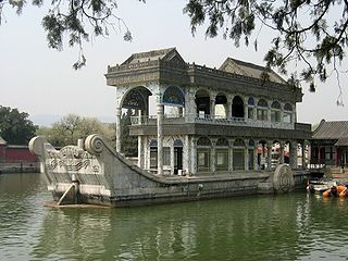 Marble Boat Structure in Beijing, China