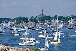 Marblehead harbor viewed from the lighthouse