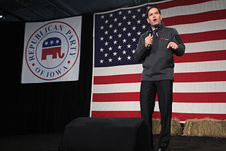 Marco Rubio 2016 presidential campaign - Rubio speaking at an event hosted by the Iowa Republican Party in October 2015.
