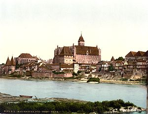 Ordensburg - The Ordensburg Marienburg in 1890/1905, during the German Empire