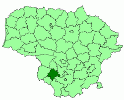 Location of Marijampolė municipality within Lithuania