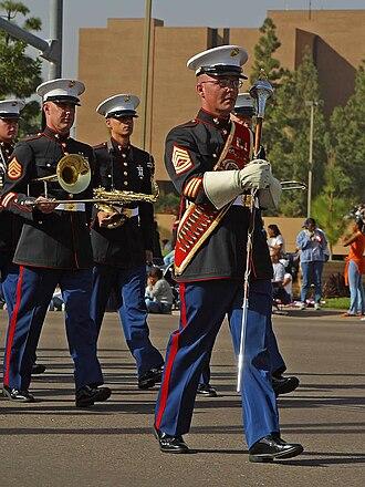 Drum major - Marines on parade