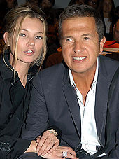 Moss with Mario Testino in 2007