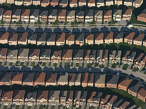 Markham, Ontario - Suburban tract housing in southeastern Markham