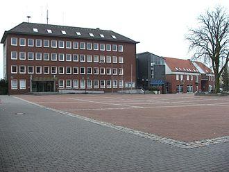 Ennigerloh - Marktplatz and Town Hall.