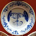Marriage plate, Netherlands, 18th century, Delftware - Cinquantenaire Museum - Brussels, Belgium - DSC08544.jpg