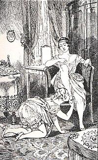 fetiĉismo kaj ekshibicio:Klara ŝategas ludi sekse kun manĝaĵoj.. 200px-Martin_van_Maele_-_La_Comtesse_au_fouet_01