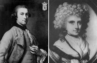 Mary Bowes, Countess of Strathmore and Kinghorne - Mary Eleanor Bowes and her husband John Lyon.