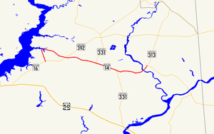 Maryland Route 14 - Image: Maryland Route 14 map