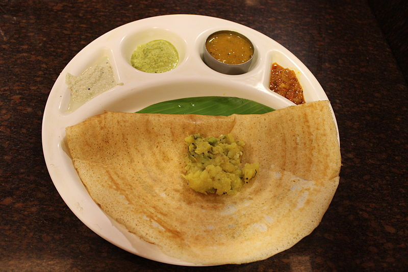 File masala dosa as served in tamil nadu india jpg for Aharam traditional cuisine of tamil nadu