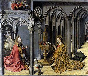 Мастер Благовещения из Экса. Благовещение. 1443-45 гг. Экс-ан-Прованс, церковь Сен-Мари-Мадлен