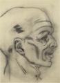 MatsumotoShunsuke Sketch Head of a Railroad-Flagman-ca1942.png