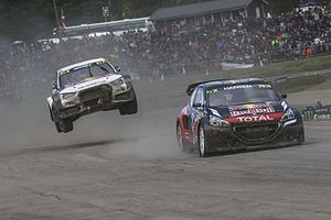 2016 World RX of Sweden - Local drivers Timmy Hansen and Mattias Ekström resumed their battle from the previous year in the Semis