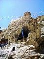 Meditation cave, Dhankhar Gompa. Lahaul and Spiti, India. 2004.jpg