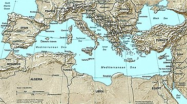 Mediterranean Political Map.List Of Mediterranean Countries Wikipedia