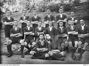 Rugby union in the Australian Capital Territory - First Fifteen of Royal Military College in 1913.