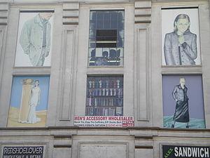 Los Angeles Fashion District - Image: Men's Accessory Wholesaler, Fashion District, Pico & Santee, Los Angeles