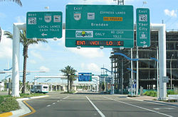Lee Roy Selmon Expressway - Wikipedia Map Of Crosstown Expressway on map of hwy 301, map of dulles greenway, map of indiana toll road, map of dulles toll road, map of suncoast parkway,