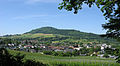 Merzhausen mit dem Schönberg, im Vordergrund die Reben des staatl. Weinbauinstitutes.jpg