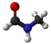 Ball and stick model of N-methylformamide