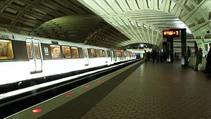 Metro Center from Shady Grove side with train.jpg