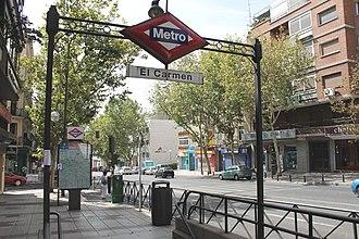 El Carmen (Madrid Metro) - Image: Metro de Madrid El Carmen 01