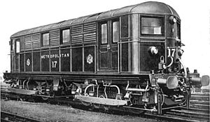 London Underground rolling stock - Metropolitan Railway electric locomotive No. 17
