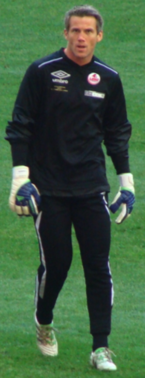 Mickaël Landreau - Landreau in training just before the final of the Coupe de France match with Lille.