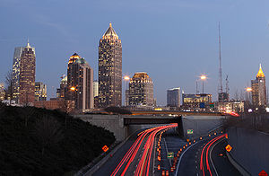 This is an extended exposure of Midtown Atlant...