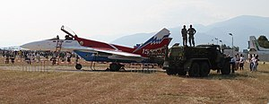 Aviation fuel - Ground fueling of a MIG-29 from a URAL tanker