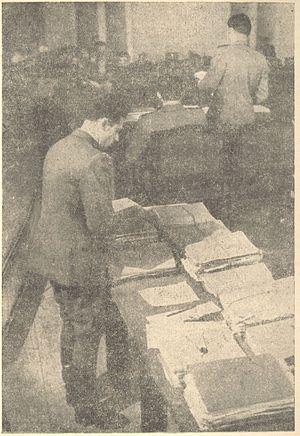 Trial of Mihailović et al. - Mihailovic seized archives, the main evidence in the Belgrade process.