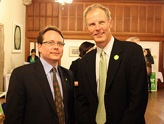Green Party of Ontario - Frank De Jong (right), with his successor as GPO Leader, Mike Schreiner (left)