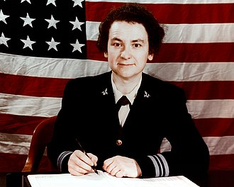 Mildred H. McAfee - LCDR McAfee while director of the WAVES