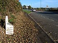 Milepost on the A61 - geograph.org.uk - 598916.jpg