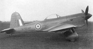 United Kingdom aircraft test serials - U-0228 a Miles M.20 showing the wartime presentation