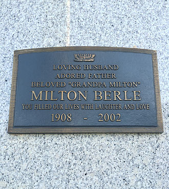 Milton Berle - Crypt of Milton Berle, at Hillside Memorial Park
