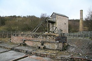 Minera Lead Mines - The restored engine house and workings.