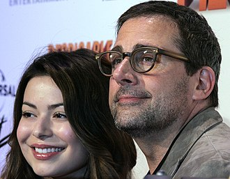 Steve Carell - Co-star Miranda Cosgrove and Carell at a premiere for Despicable Me 2, June 2013