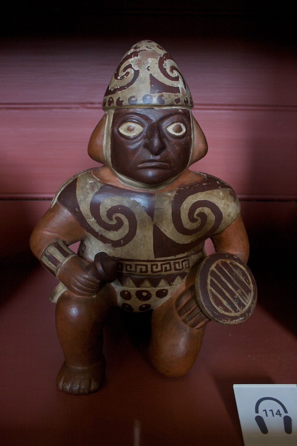 Moche warrior pot