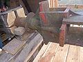 Molen Weseker standerdmolen Duitsland, bovenas insteekkop (6).jpg