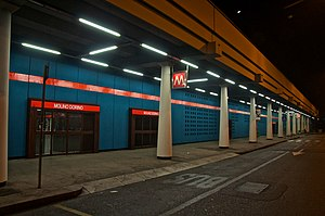 Molino Dorino (Milan Metro) - The station entrance
