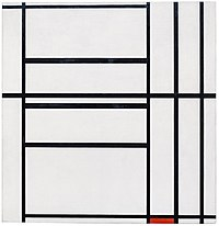 Mondrian - Composition No. 1 with Grey and Red 1938 Composition with Red 1939, 1938–39.jpg